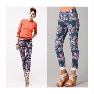 Citizens of Humanity Mandy Floral Roll Up Jeans 25